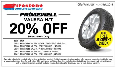 firestone   primewell valera ht coupon july