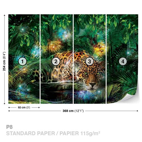 Jungle Bedroom Wallpaper Murals Tiger King Of The Jungle Wallpaper Mural For Bedrooms
