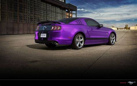 the gallery for gt black blue and purple hair purple and black mustang gt back view ford mustang
