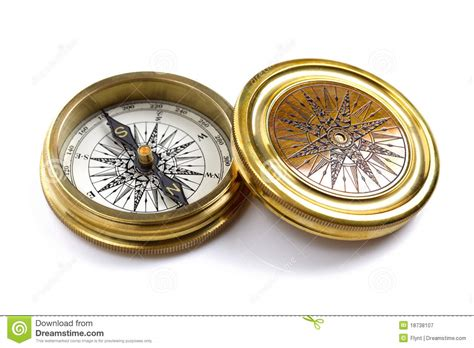 antique brass compass royalty free stock photography