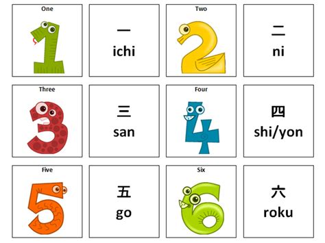 Colour By Number Japanese: