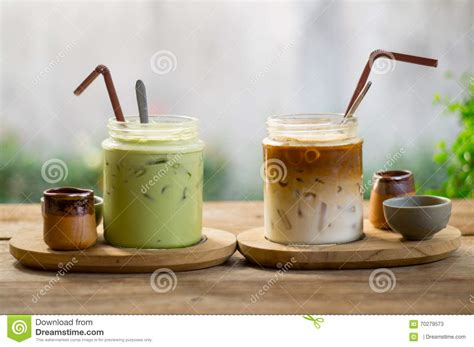 Green Coffee Latte latte coffee and matcha green tea stock image image of relax cafe 70279573