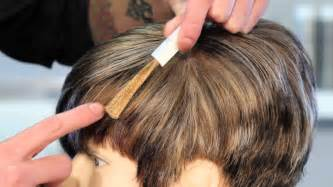 how to put highlights in gray hair how to cover gray with highlights of light brown hair