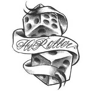 high rollers tattoo high roller dice card design photo 2