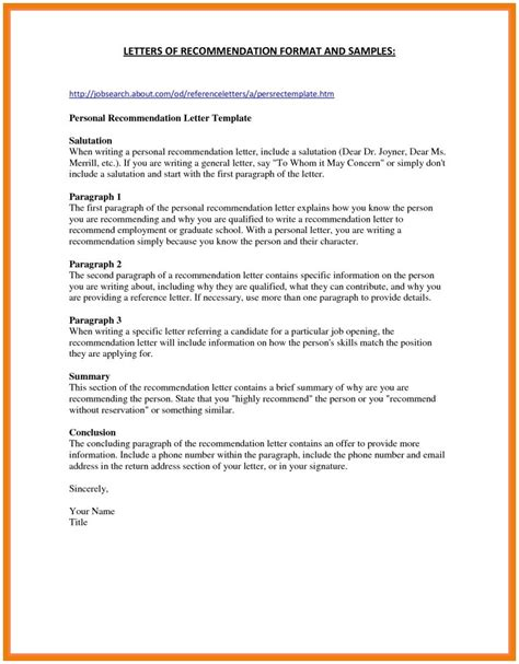 General Letter Of Recommendation Template Sles Letter Template Collection General Letter Of Recommendation Template