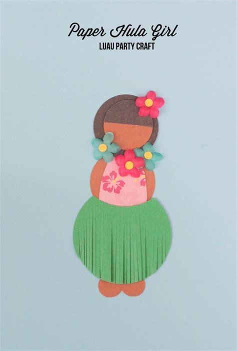 Luau Craft Paper Hula Doll Mirabelle Creations
