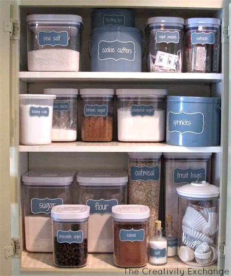 kitchen cabinet labels organize a baking cabinet with free printable pantry labels