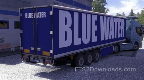 blue trailer blue water trailer truck simulator 2 mods