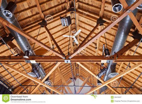 Rambler Floor Plans timber house ceiling duct lighting installation stock