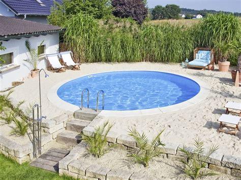 swimmingpool pool selber bauen stahlwandbecken foto d w