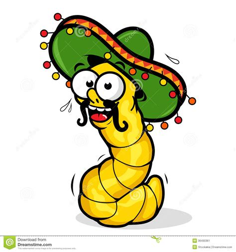 cartoon sombrero tequila worm stock vector image of liquor mexico