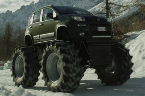 lifted mercedes sedan 11 normal cars with ridiculously massive wheels 6