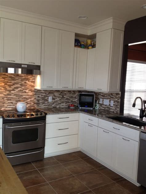 Maple Cabinets Lowes by Kraftmaid Deveron Maple Harabin Traditional Kitchen