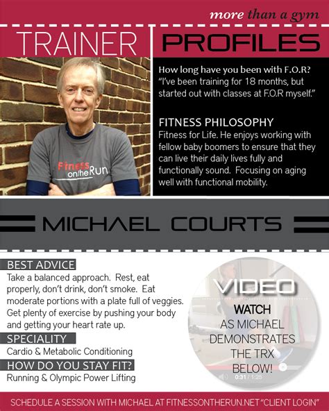 trainer profile series michael courts fitness on the run