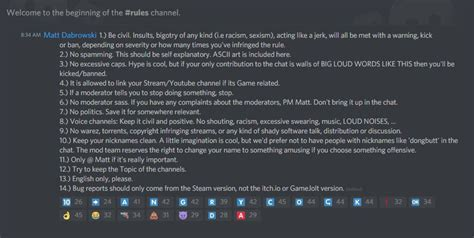 discord rules 5 tricks for managing your indie game s discord community