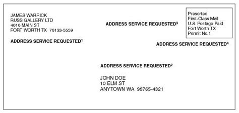 business letter return address placement requirements for usps return address endorsements modern