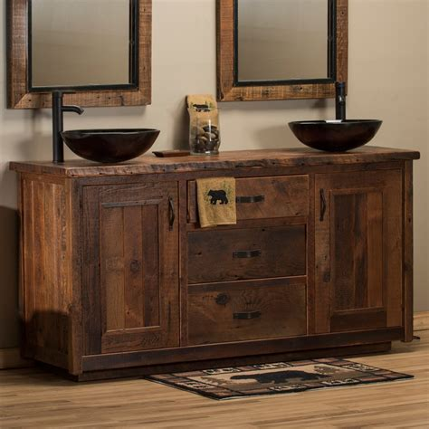 Barnwood Bathroom Vanity Timber Frame Barnwood Vanity Barnwood Bathroom Vanities