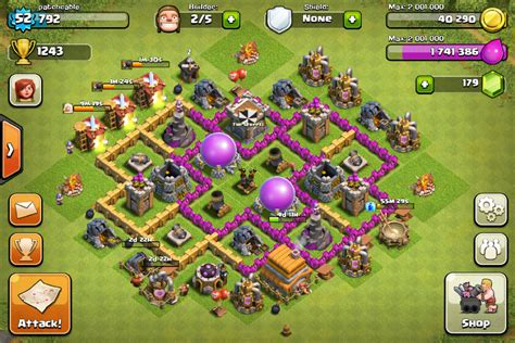 layout level 6 town hall my town hall lvl 6 base layout the hadean clash of clans