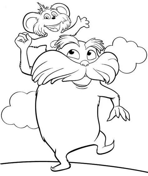 lorax coloring pages lorax coloring page sketch coloring page