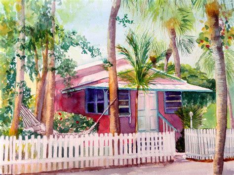 Siesta Key Cottage by Lynne Atwood Siesta Key Cottage Hi End Print On Canvas