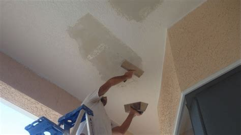 Re Skim Ceiling by Skim Coating Ceiling Repair With Mud
