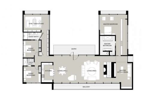 U Shaped Floor Plans by 49 Best U Shaped Houses Images On Arquitetura