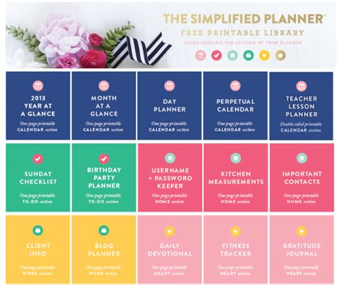 printable life planner pages 8 best images of daily binder printables printables