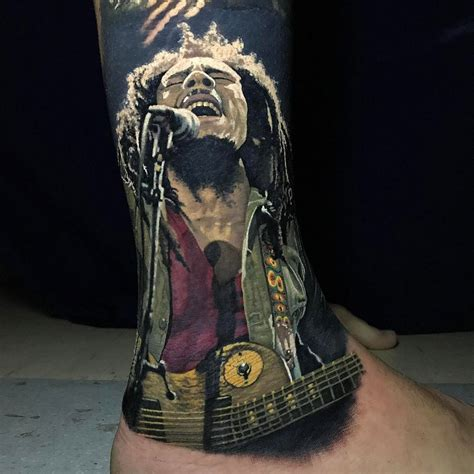 bob marley singing portrait best tattoo design ideas