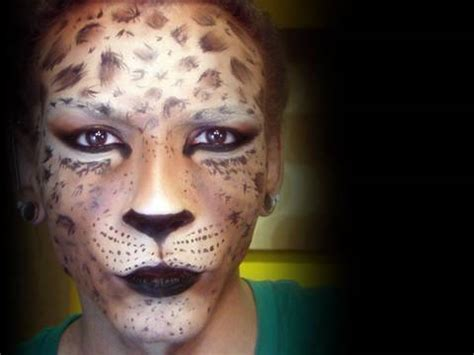 leopard makeup tutorial leopard mask makeup tutorial youtube