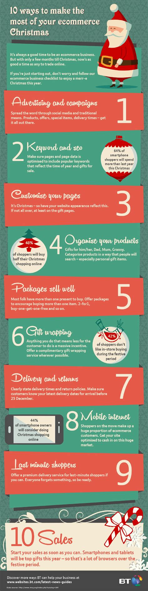 infographic 10 ecommerce tips for christmas mycustomer