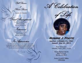 robbie j foote obituary front and back cover