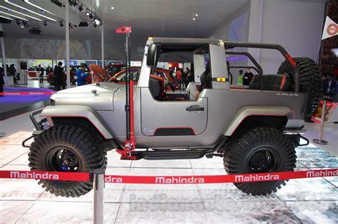 mahindra jeep thar 2016 mahindra thar custom auto expo 2016 live