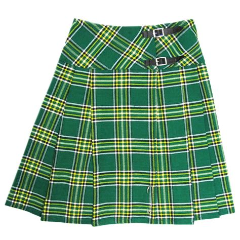 irish plaid tartanista long irish green tartan plaid 23 quot wrap kilt
