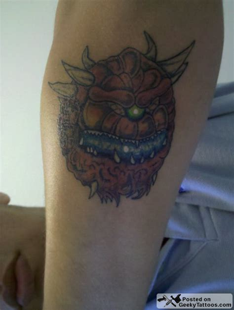doom tattoo cacodemon geeky tattoos