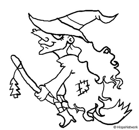 witch broomstick coloring page witch on flying broomstick coloring page coloringcrew com