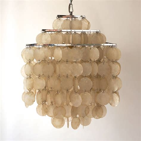 Capiz Shell Chandelier Lighting Capiz Shell Chandelier By Verner Panton For Sale At 1stdibs