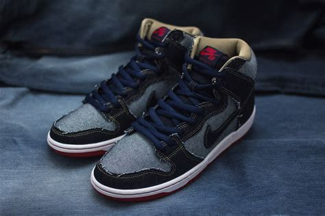 nike dunk high new year nike sb dunk reese denim navis