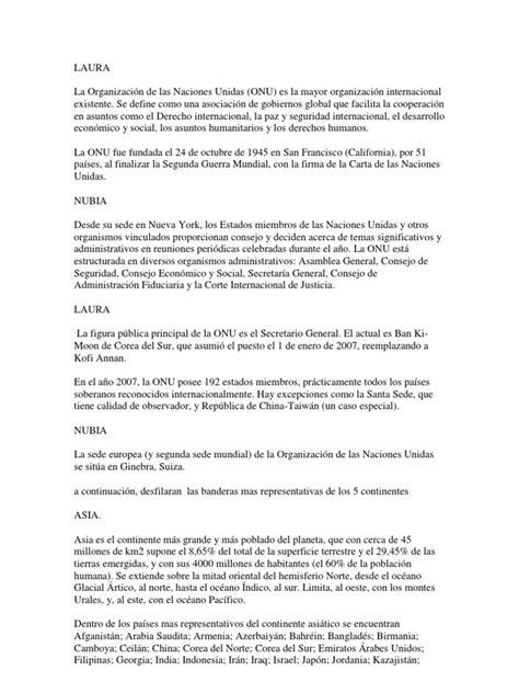 Modelo Curriculum Naciones Unidas Acto Civico Dia De Las Naciones Unidas