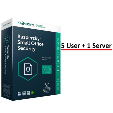kaspersky 5 user 1 server small office security personal
