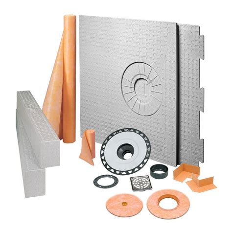Schluter Kerdi Shower Kit by Shop Schluter Systems Kerdi Shower Kit 32 In X 60 In Ctr Stainless Steel Abs At Lowes