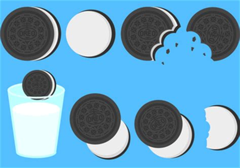 oreo pattern vector oreo cookie vectors free vector download 344739 cannypic