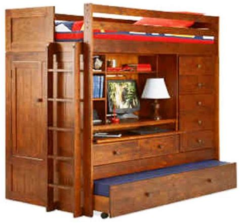 Bunk Bed With Desk And Drawers by Bunk Bed All In 1 Loft With Trundle Desk Chest Closet