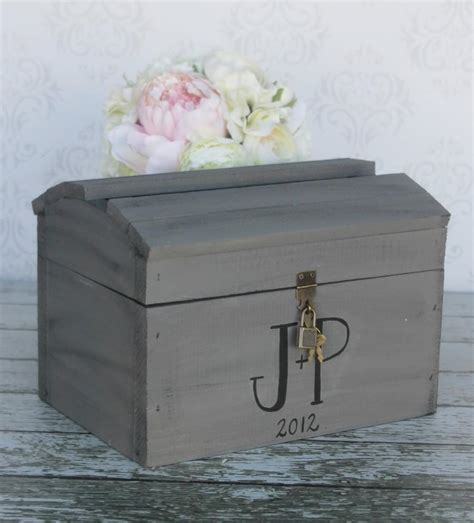 wedding box with lock wedding card box with lock vintage wedding decor item
