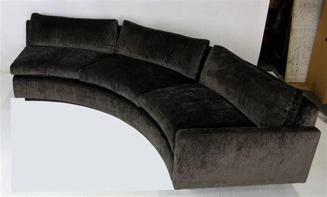 half circle sofas large half circle sectional sofa by milo baughman for
