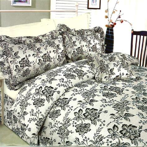 dark floral bedding 6 pc jacquard damask silver black floral duvet cover