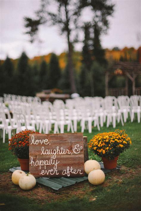 fall wedding ceremony decorations outdoor fall rustic wedding vineyard pumpkins and wedding