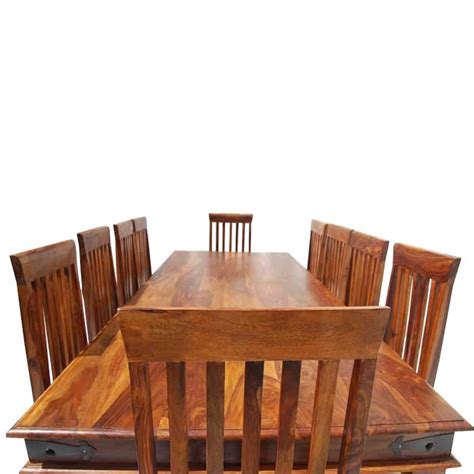 Dining room table with 10 chairs