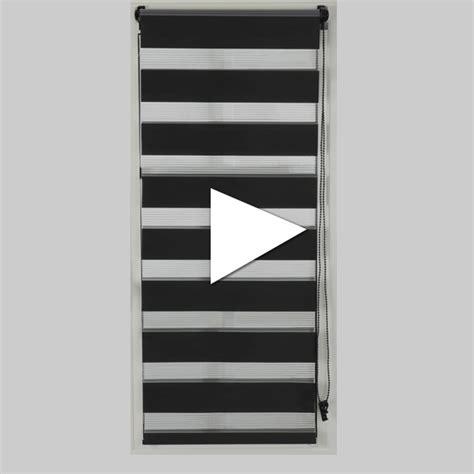 Store Jour Et Nuit Blanc by Store Enrouleur 60 X 180 Cm Jour Nuit Blanc Store