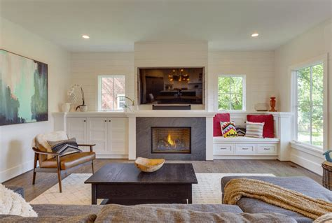 Fireplace Cabinets And Bookcases Beautiful Living Rooms With Built In Shelving