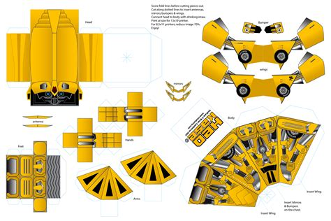 How To Make A Paper Transformer Bumblebee - make your own optimus prime and bumblebee gadgetsin